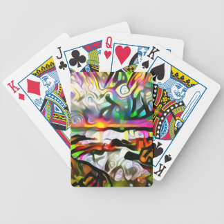 Abstract shore bicycle playing cards