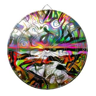 Abstract shore dartboard