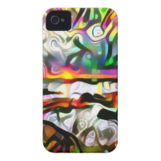 Abstract shore iPhone 4 case