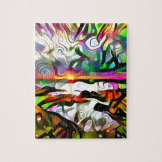Abstract shore jigsaw puzzle