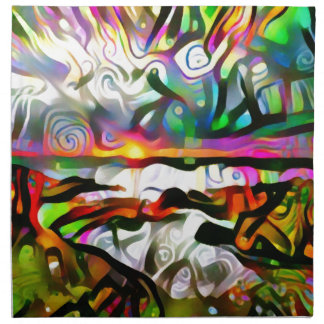 Abstract shore napkin