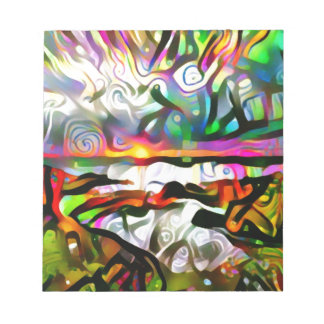 Abstract shore notepad