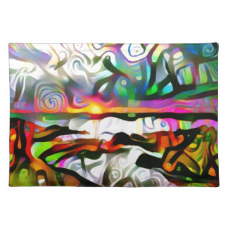 Abstract shore placemat