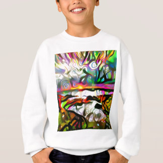 Abstract shore sweatshirt