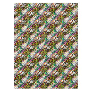 Abstract shore tablecloth