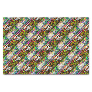 Abstract shore tissue paper