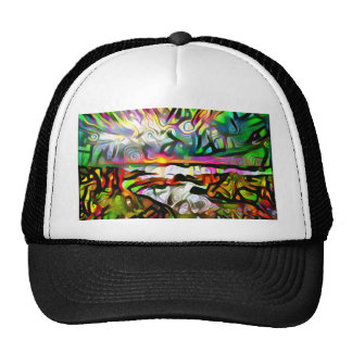 Abstract shore trucker hat