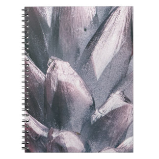 Abstract Silver Spikes Hardcover Notebook