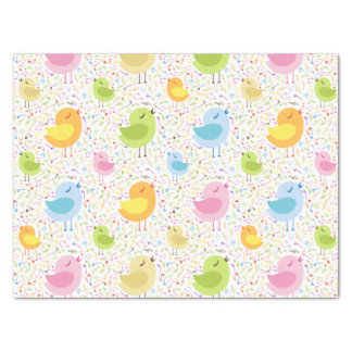 Abstract Singing Birds Tissue Paper