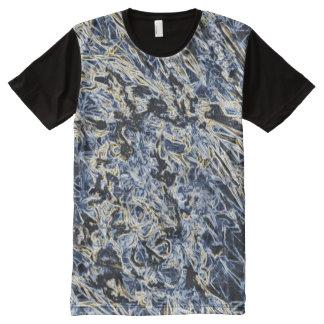 Abstract Skater Spirit T-shirt blue /schwarz
