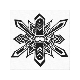 "Abstract Ski/Snowboard Canvas Print (12""x12"")"