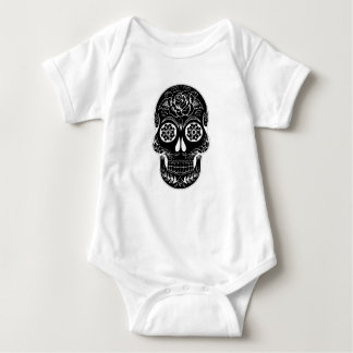 Abstract Skull Baby Bodysuit