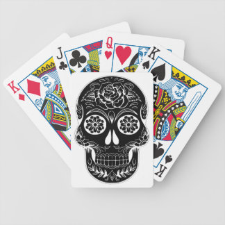 Abstract Skull Bicycle Playing Cards