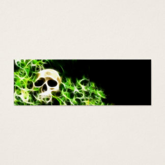 Abstract skull bookmark mini business card