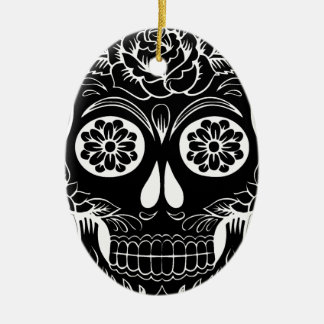 Abstract Skull Ceramic Ornament