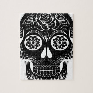 Abstract Skull Jigsaw Puzzle