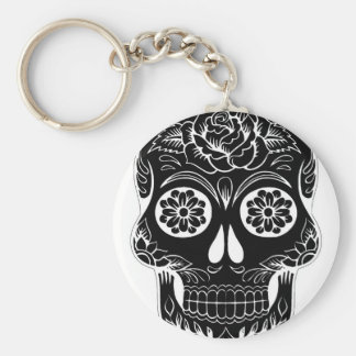 Abstract Skull Keychain
