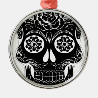 Abstract Skull Metal Ornament