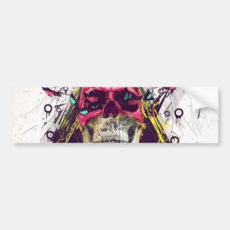 Abstract skull.Modern skull Bumper Sticker