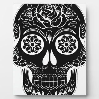 Abstract Skull Plaque