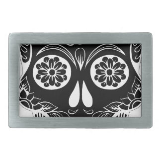 Abstract Skull Rectangular Belt Buckles