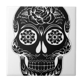 Abstract Skull Tile