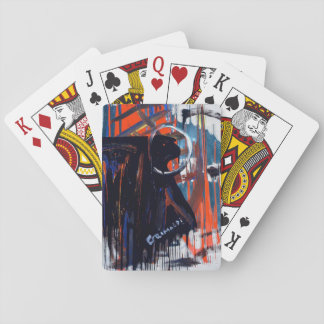 ABSTRACT SKULLS SET OF CLASSIC PLAYING CARDS