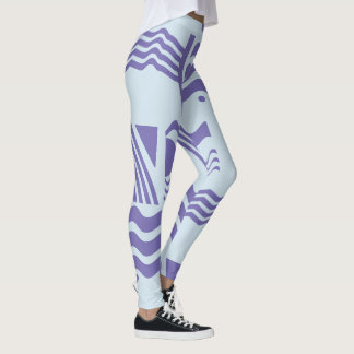Abstract Sky Blue Leggings