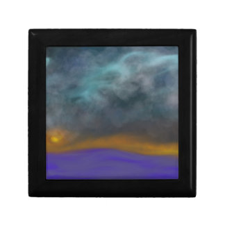 Abstract sky gift box