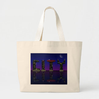 Abstract skyline. large tote bag