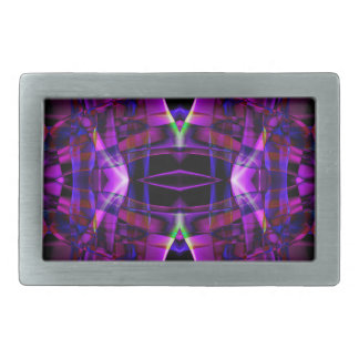 Abstract Smoke Art Design Rectangular Belt Buckle