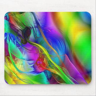 Abstract Smoke Art Mouse Pad