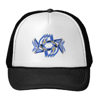 Abstract smoke design trucker hats