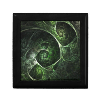 Abstract Snake Skin Green Keepsake Box