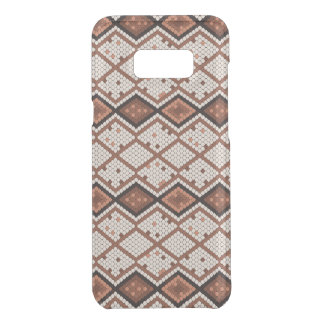 Abstract Snake-Skin Pattern in Brown & White Uncommon Samsung Galaxy S8 Plus Case