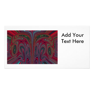 Abstract Snakehead Design Photo Card