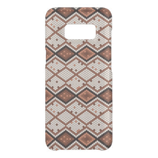 Abstract SnakeSkin Pattern in Brown & White Uncommon Samsung Galaxy S8 Case