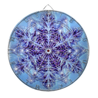 Abstract Snowflake Dart Board by Artful Oasis