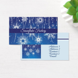 Abstract Snowflakes Business Card