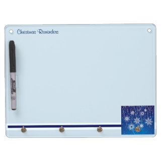 Abstract Snowflakes Dry Erase Board With Keychain Holder