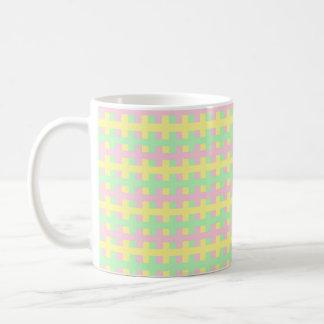 Abstract Soft Pink, Yellow and Green Coffee Mug