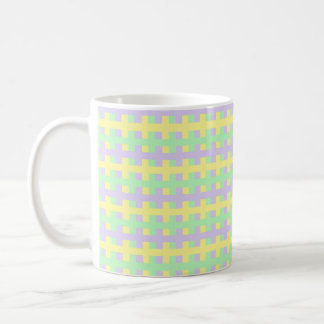 Abstract Soft Purple, Yellow and Green Coffee Mug