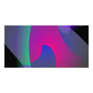 Abstract Space Photo Card