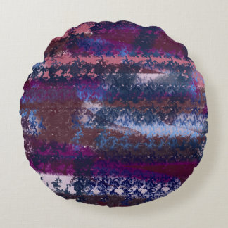 abstract space round pillow