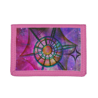 abstract space trifold wallet