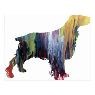 Abstract Spaniel silhouette Postcard