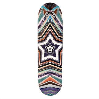 Abstract Spectral Star Custom Skateboard