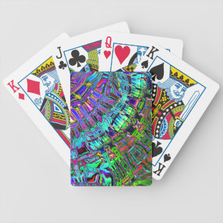 Abstract Spectrum of Shapes Bicycle Playing Cards
