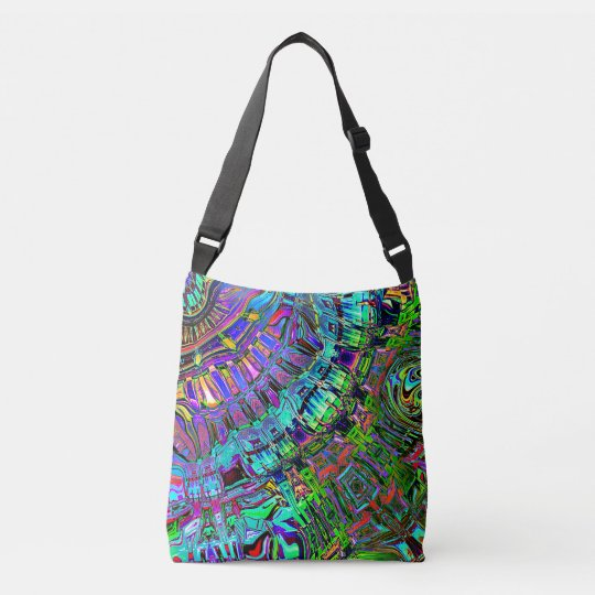 Abstract Spectrum of Shapes Crossbody Bag