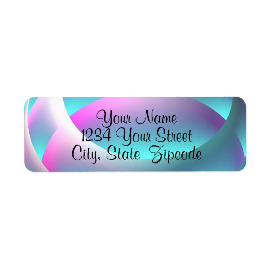 Abstract Sphere Return Address Labels